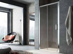 - Niche glass shower cabin with sliding door SLINTA SO+SH - Glass 1989