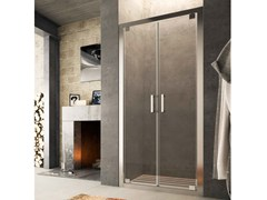 - Niche glass shower cabin with hinged door SLINTA SJ - Glass 1989