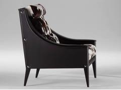 - Horse hide armchair with armrests DEZZA | Horse hide armchair - Poltrona Frau