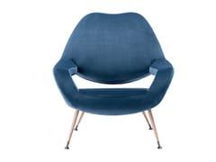 - Fabric armchair with armrests DU 55 | Fabric armchair - Poltrona Frau