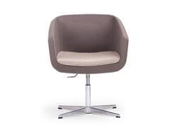 - Swivel fabric easy chair with 4-spoke base ARCA SMALL | Easy chair with 4-spoke base - True Design