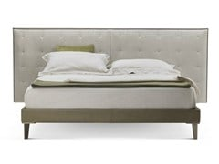 - Double bed with upholstered headboard GRANTORINO BED - Poltrona Frau