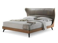 - Tanned leather double bed MAMY BLUE BED - Poltrona Frau