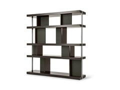 - Double-sided wooden bookcase JOBS | Double-sided bookcase - Poltrona Frau