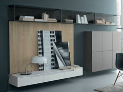 - Lacquered oak storage wall FIFTY | Composition 04 - Zampieri Cucine