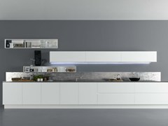 - Lacquered wooden kitchen Y | Composition 02 - Zampieri Cucine