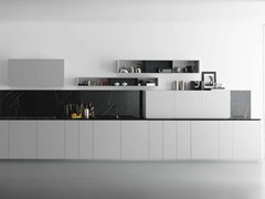 - Lacquered wooden kitchen Y | Composition 04 - Zampieri Cucine