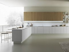 - Oak kitchen with peninsula Y | Composition 05 - Zampieri Cucine
