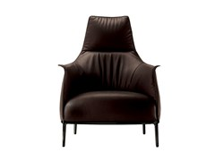 - Armchair with armrests with headrest ARCHIBALD | Armchair with headrest - Poltrona Frau