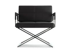 - Leather easy chair ASTER X   Easy chair - Poltrona Frau