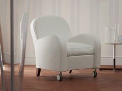 - Leather armchair with casters DAISY | Armchair with casters - Poltrona Frau