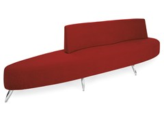 - Upholstered fabric bench with back KEY LARGO 250/300 - OUTSIDER