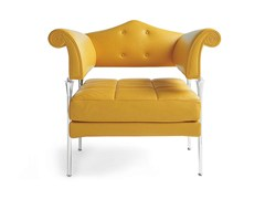 - Leather armchair HYDRA ENIF - Poltrona Frau
