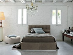 - Leather storage bed with tufted headboard MAX CAPITONNÈ | Leather bed - Twils