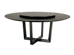 - Round table with Lazy Susan BOLERO | Table with Lazy Susan - Poltrona Frau