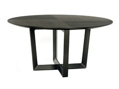 - Round solid wood table BOLERO | Round table - Poltrona Frau