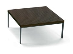 - Square wenge coffee table GEOMETRIE | Square coffee table - Poltrona Frau