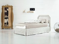 - Single bed with removable cover with upholstered headboard CAMILLE - Twils