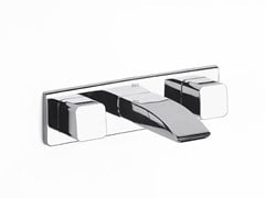 - Wall-mounted washbasin tap with plate THESIS | Wall-mounted washbasin tap - ROCA SANITARIO