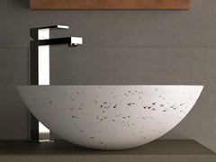- Countertop round washbasin CIRCUS 43 TRAVERTINE - Glass Design