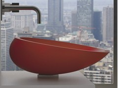 - Countertop oval Vetro Freddo® washbasin KOOL - Glass Design