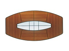 - Walnut meeting table CORINTHIA MEETING | Walnut meeting table - Poltrona Frau