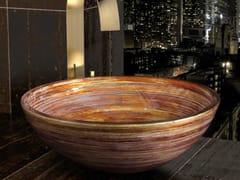 - Countertop round glass washbasin GRAFFITI Ø 44 - Glass Design