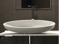 - Countertop oval washbasin KOOL XL - Glass Design