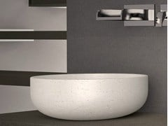 - Countertop round single washbasin RAPOLANO 35 - Glass Design