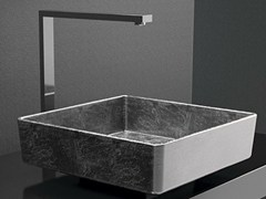 - Countertop square washbasin FOUR LUX - Glass Design
