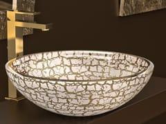 - Countertop round glass washbasin KALAHARI Ø 44 - Glass Design