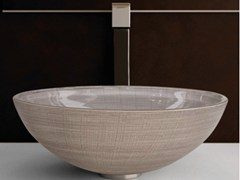- Countertop round glass washbasin VENICE Ø 44 - Glass Design