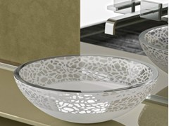 - Countertop single glass washbasin FLARE Ø 40 - Glass Design
