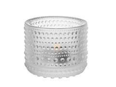 - Satin glass candle holder KASTEHELMI | Satin glass candle holder - iittala