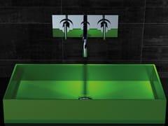 - Countertop rectangular silicone washbasin BARCHETTA - Glass Design