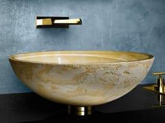 - Countertop round washbasin LUNA Ø 44 - Glass Design