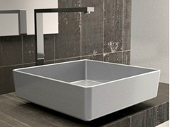 - Countertop square single washbasin FOUR STARLIGHT - Glass Design