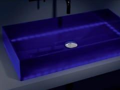 - Countertop rectangular washbasin BARCHETTA LIGHT - Glass Design