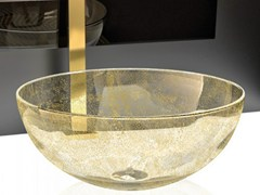 - Countertop round Murano glass washbasin LAGUNA ORO - Glass Design