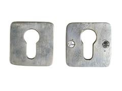 - Square metal keyhole escutcheon SQU | Square keyhole escutcheon - Dauby