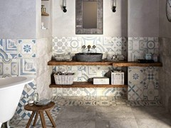 - Porcelain stoneware wall/floor tiles CEMENTINE COLOR - CERAMICHE KEOPE