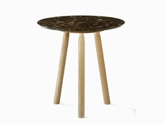 - Round marble high side table NINNA | High side table - Adentro