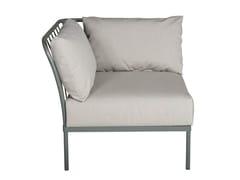- Corner sectional garden armchair CHELSEA | Corner armchair - Tectona
