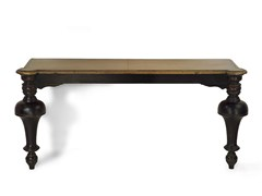 - Rectangular solid wood console table TOWER | Wooden console table - MARIONI