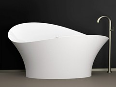- Freestanding bathtub FLOWER STYLE WHITE - Glass Design