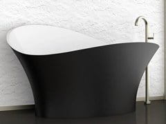 - Freestanding bathtub FLOWER STYLE BLACK - Glass Design