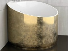 - Corner gold leaf bathtub MINI GOLD - Glass Design