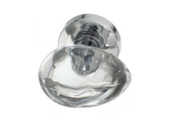 - Crystal door knob with polished finishing OVO LISCIO TRANSPARENT - Glass Design