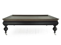 - Low square solid wood coffee table THOR | Square coffee table - MARIONI