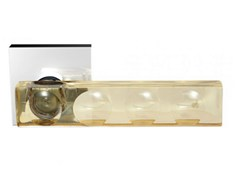 - Crystal door handle with brushed finishing KEA HOME AMBER - Glass Design